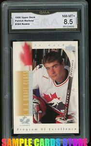 1996-Upper-Deck-384-Patrick-Marleau-RC-Rookie-GMA-Graded-8-5-NM-MT-PSA-8-5