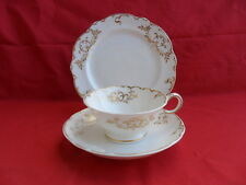 Antique (mid 19th Century) White & Gold Tea Trio (Teacup, Saucer & Plate) A