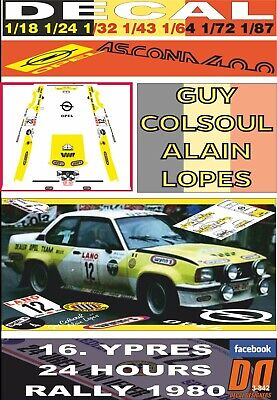 Decal opel ascona 400 G 01 DNF 1980 colsoul ypres 24 hours r