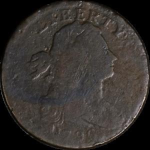 1796-Large-Cent-039-LIHERTY-039-ERROR-AG-G-Details-S-103-R-4