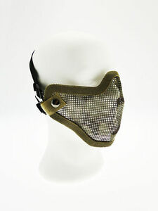 Masque-Tactique-Metal-Crane-Visage-Tete-de-Mort-Camouflage-Royal