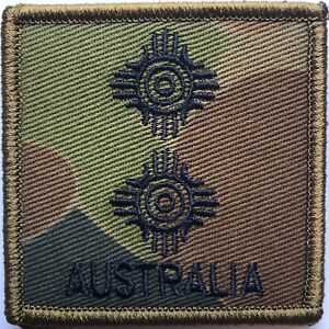 DPCU-Army-Australia-Rank-LT-Patch-with-Hook-Backing