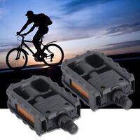 Universal Plastic Mountain Bike Bicycle Folding Pedals Non-slip Black Oe