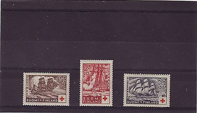 FINLAND - SG312-314MNH 1937 RED CROSS FUND - WARSHIPS