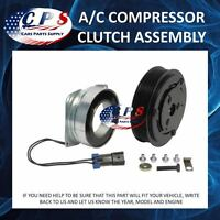A/c Ac Compressor Clutch Assembly Fits York Models 2 Wire 8 Grooves 12 Volt