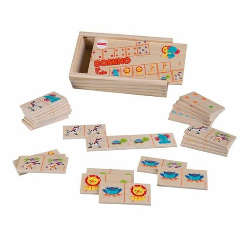Fisher-Price Holz Domino Tiermotive 28 Teile ab 10 Monate NEU OVP