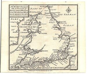 Antique-map-Sea-coast-of-England-amp-Wales-with-ye-fortifications-amp-c