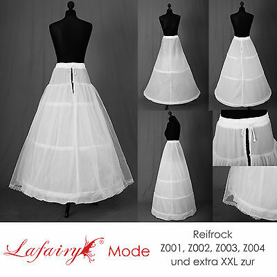 Reifrock Petticoat Unterrock Gr.32-58 mit 2 od. 3 Ringe zur Auswahl