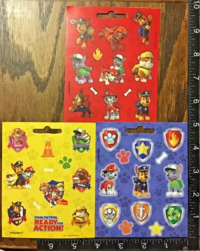 3 LITTLE SHEETS BEAUTIFUL STICKERS #CHASE PAW PATROL BY NICKELODEON