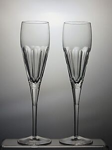 STUART-CRYSTAL-CUT-GLASS-CHAMPAGNE-FLUTES-SET-OF-2-SIGNED-BOXED-8-1-4-034-TALL