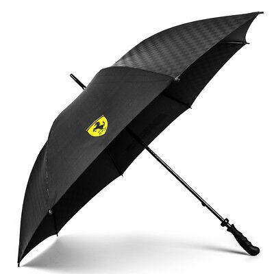 2018 Scuderia Ferrari Ombrello Grande Team Nero-official Licensed Merchandise-mostra Il Titolo Originale