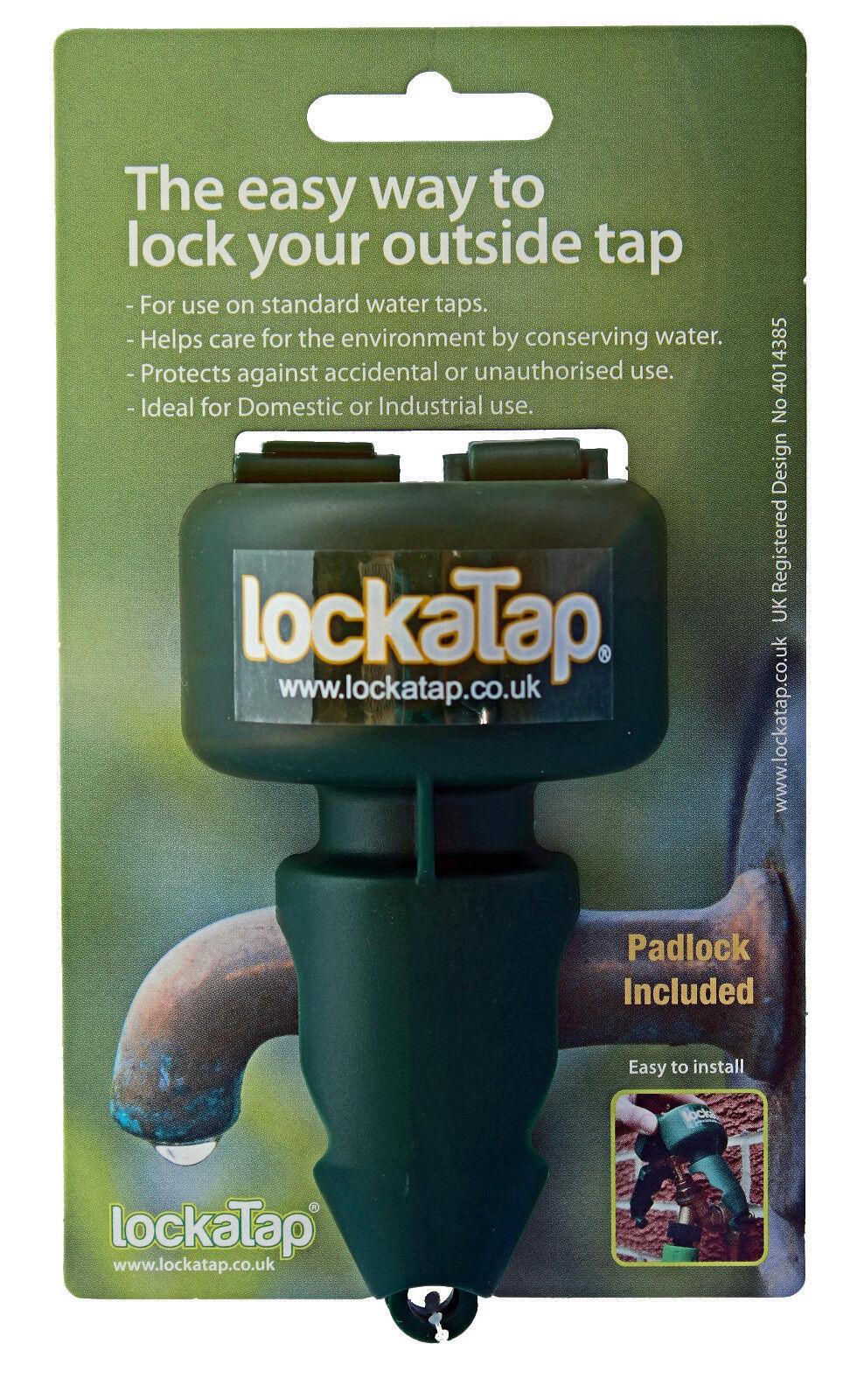 LOCKATAP OUTSIDE GARDEN TAP LOCK- PROTECTIVE COVER MADE IN UK