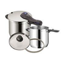Wmf Perfect Plus Pressure Cooker Set 6.5 Qt + 4.5 Qt With Two Lids on sale