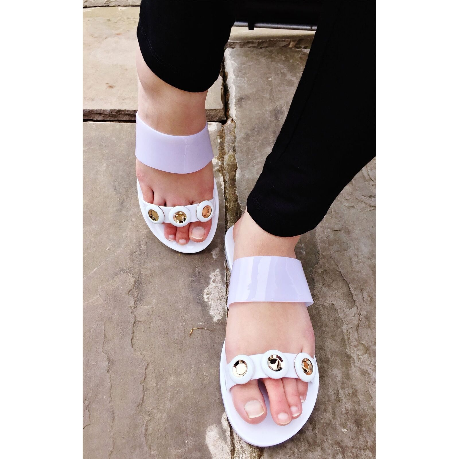 mesdames  s s s jelly diaFemmete slider mules holiday summer sandales chaussures de plage 8e6bbc