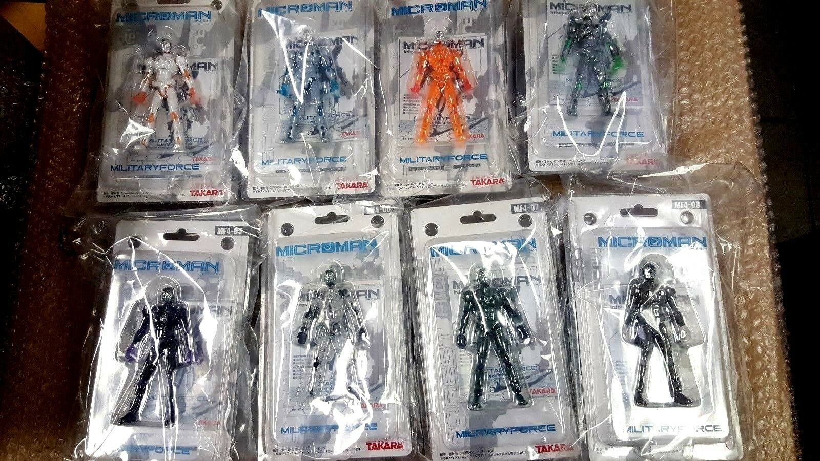 Microman MF4 Military Force 8 Piece Collection