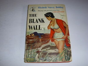 THE-BLANK-WALL-by-ELISABETH-SANXAY-HOLDING-Pocket-Book-662-1950-Vintage-PB