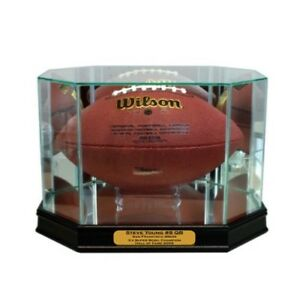 New-Steve-Young-San-Francisco-49ers-Glass-and-Mirror-Football-Display-Case