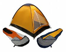 ORANGE DOME CAMPING TENT 2 MAN + 2 SLEEPING BAGS 20+ COMBO CAMPING HIKING PACK