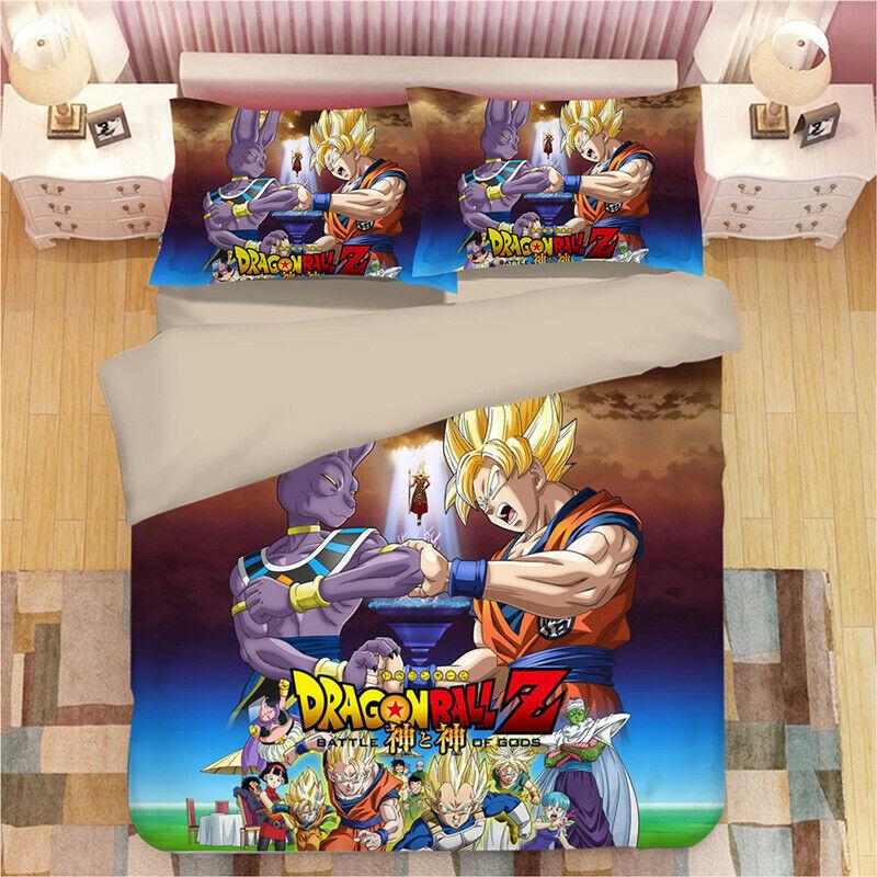 New 3D Dragonball Design Bedding set Duvet Quilt Comforter Cover Pillowcase