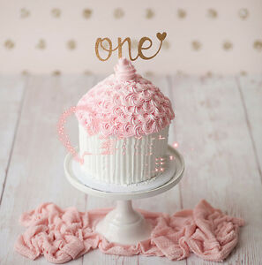 Image Is Loading 1X Glitter Gold Silver One Cake Topper 1st