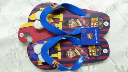 Flip-Flop-Beach-Shower-summer-Slipper kids boys size 28//29 FC-Barcelona-neymar