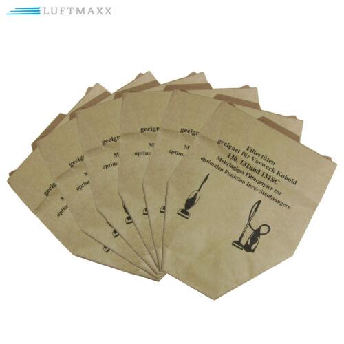 6 sacchetti filtro aspirapolvere adatto per Vorwerk Folletto 130 131 QUALITÀ TOP