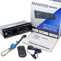 Kenwood Kmm-bt315u Bluetooth Car Stereo Digital Media Receiver Aux/usb/siriusxm