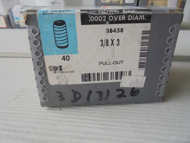 "Details about  /Lot of 20 Unbrako 3//8/"" X 3//4/"" Dowel Pin Single Shear"