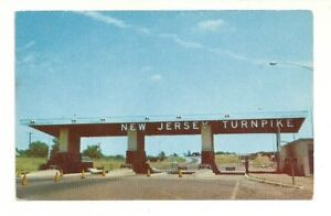 NEW-JERSEY-TURNPIKE-TOLL-GATE-CHROME-POSTCARD