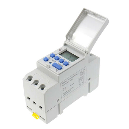 7-Day Digital LCD DIN Programmable Weekly Rail Timer 24V Time Relay Switch