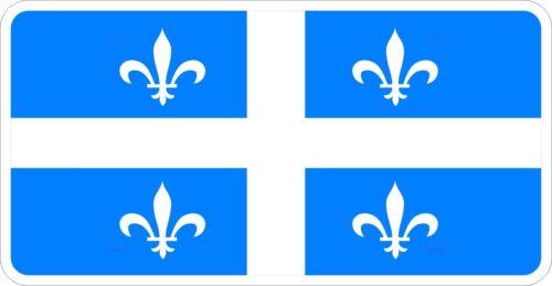 Quebec Flag Logo Decal Sticker MV