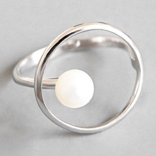 Ursprünglicher Designer Perlen Ringe Für Frauen Solide 925 Silber Fein Schmuck