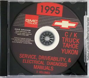 1995 Chevy GMC Pickup Truck Suburban Tahoe Yukon Factory Shop Service Manual CD
