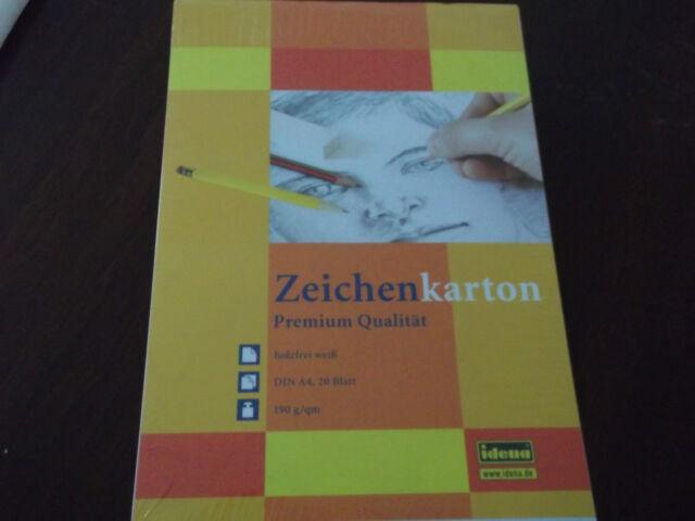 Idena A4 Tonzeichenpapier 10 Farben 20 Blatt