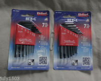 Two (2) Inch Sae Hex-l Sets, 7 Keys Each Eklind Allen Wrench 10107 Free Ship