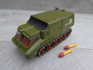 Vintage Dinky Toys No353 Shado 2 Gerry Anderson UFO vehículo suave techo + cohetes