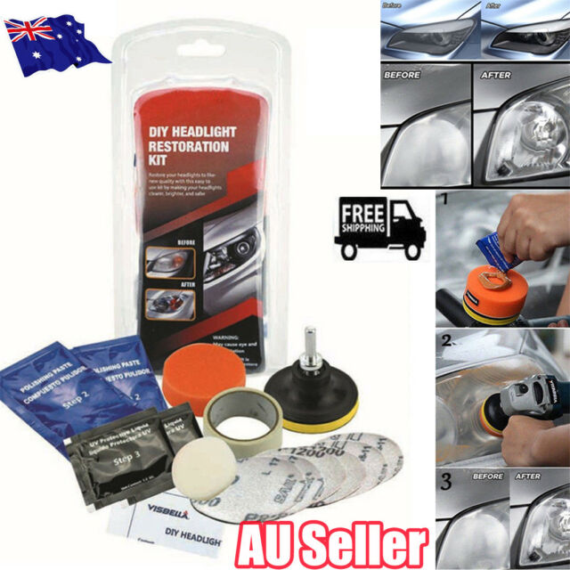 Car Headlight Lens Restoration System Professional Restorer Polishing Tool Kit O