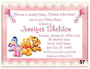 Image Is Loading 20 BABY WINNIE THE POOH BABY SHOWER INVITATIONS