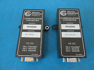 LOT OF 3 Electro Industries SF232DB3 Communication Converter