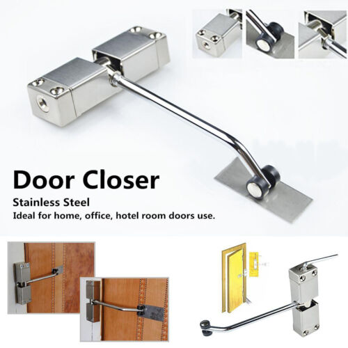 Stainless Steel Adjustable Surface Mounted Spring Automatic Door Closer Tool