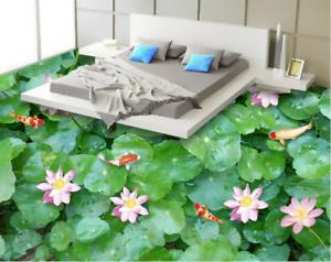 3D Lotus Plant Fish 485 Floor WallPaper Murals Wall Print Decal AJ WALLPAPER CA