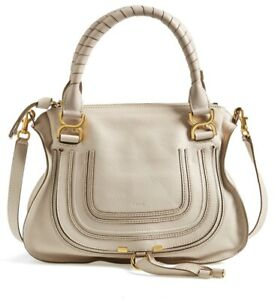 e104c13dc551 Image is loading Chloe-Marcie-Large-Leather-Satchel-Bag-Abstract-White