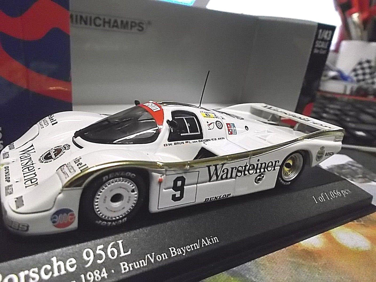PORSCHE 956l 956 Lang poppa le Mans 1984 Warsteiner  9 Brun V. BA Minichamps 1:43