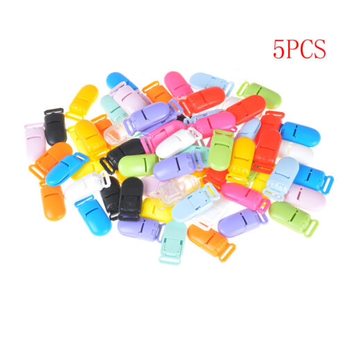 5X Plastic Baby Pacifier Clips Soother Holder for Baby Pacifier Nipples Holder M