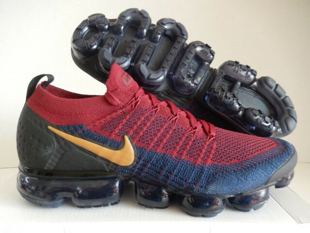 new concept f18e2 0baa1 Nike Air Vapormax Flyknit 2 Mens 942842-604 Red Obsidian Running Shoes Size  10.5