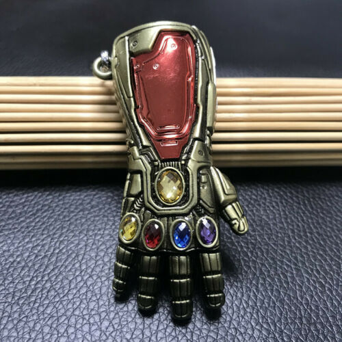 US Iron Man Infinite Gauntlet Keychain Avengers Endgame Tony Stark Glove Prop