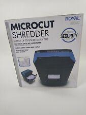 Royal Micro Cut Paper Shredder Heavy Duty 8 Sheet Micro Confetti Cut 805mc New