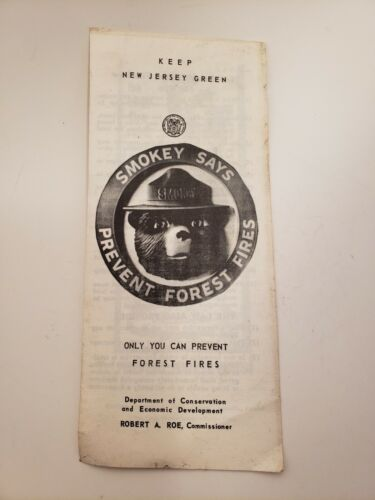 NJ Forest Service Early 1960/'s Pamphlet