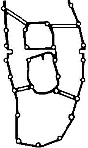 Joint boîtier de contrôle Haut-Elring 919.897