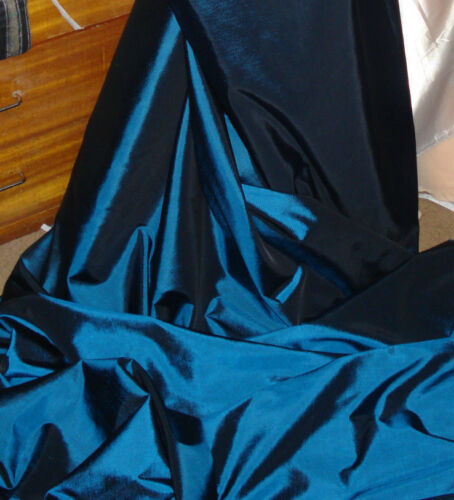"3M metalic blue   TAFFETA  FABRIC 58/"" WIDE"